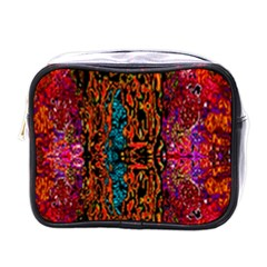 Retro Multi Colors Pattern Created By Flipstylez Designs Mini Toiletries Bags