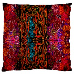 Retro Multi Colors Pattern Created By Flipstylez Designs Large Cushion Case (two Sides)