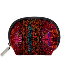 Retro Multi Colors Pattern Created By Flipstylez Designs Accessory Pouches (small)