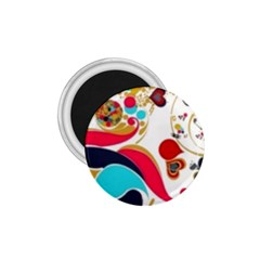 Retro Colorful Colors Splashes 1 75  Magnets