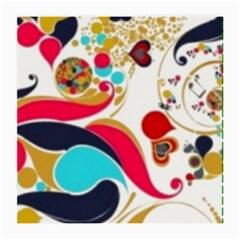 Retro Colorful Colors Splashes Medium Glasses Cloth