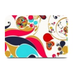 Retro Colorful Colors Splashes Plate Mats