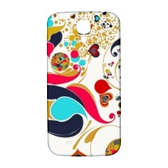 Retro Colorful Colors Splashes Samsung Galaxy S4 I9500/i9505  Hardshell Back Case by flipstylezdes