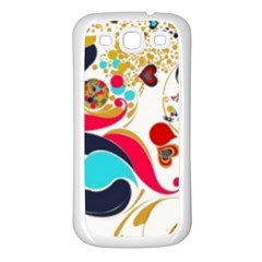 Retro Colorful Colors Splashes Samsung Galaxy S3 Back Case (white) by flipstylezdes