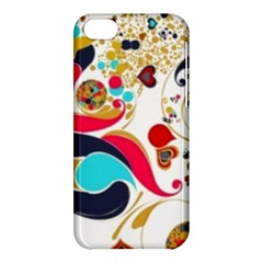 Retro Colorful Colors Splashes Apple Iphone 5c Hardshell Case by flipstylezdes