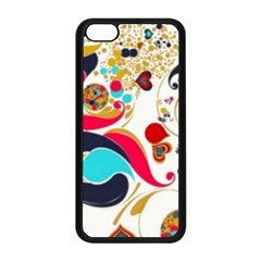 Retro Colorful Colors Splashes Apple Iphone 5c Seamless Case (black) by flipstylezdes