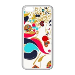 Retro Colorful Colors Splashes Apple Iphone 5c Seamless Case (white) by flipstylezdes