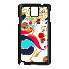 Retro Colorful Colors Splashes Samsung Galaxy Note 3 N9005 Case (black) by flipstylezdes