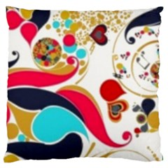 Retro Colorful Colors Splashes Standard Flano Cushion Case (one Side) by flipstylezdes