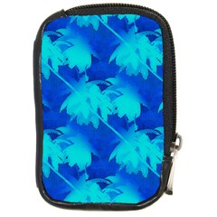 Coconut Palm Trees Ocean Blue Compact Camera Leather Case