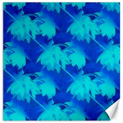 Coconut Palm Trees Ocean Blue Canvas 16  X 16