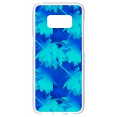 Coconut Palm Trees Ocean Blue Samsung Galaxy S8 White Seamless Case