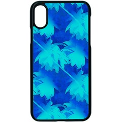 Coconut Palm Trees Ocean Blue Apple Iphone X Seamless Case (black)