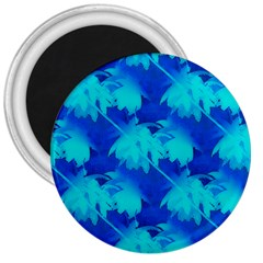 Coconut Palm Trees Ocean Blue 3  Magnets