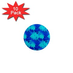 Coconut Palm Trees Ocean Blue 1  Mini Magnet (10 Pack)  by CrypticFragmentsColors