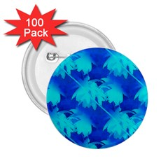 Coconut Palm Trees Ocean Blue 2 25  Buttons (100 Pack)