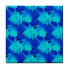 Coconut Palm Trees Ocean Blue Face Towel