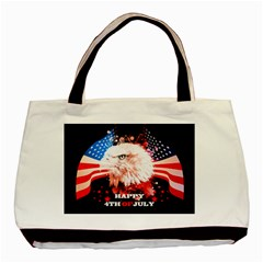 Independence Day, Eagle With Usa Flag Basic Tote Bag (two Sides)