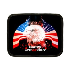 Independence Day, Eagle With Usa Flag Netbook Case (small)
