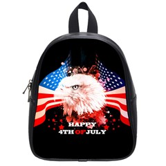 Independence Day, Eagle With Usa Flag School Bag (small)