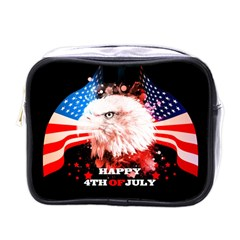 Independence Day, Eagle With Usa Flag Mini Toiletries Bags
