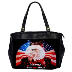 Independence Day, Eagle With Usa Flag Office Handbags