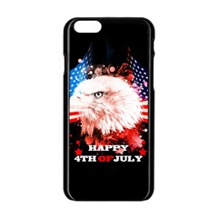 Independence Day, Eagle With Usa Flag Apple Iphone 6/6s Black Enamel Case by FantasyWorld7