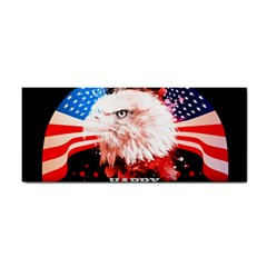 Independence Day, Eagle With Usa Flag Hand Towel