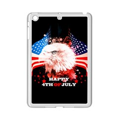 Independence Day, Eagle With Usa Flag Ipad Mini 2 Enamel Coated Cases by FantasyWorld7
