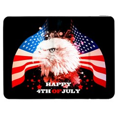 Independence Day, Eagle With Usa Flag Samsung Galaxy Tab 7  P1000 Flip Case by FantasyWorld7