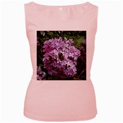 Lilac Bumble Bee Women s Pink Tank Top