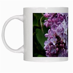 Lilac Bumble Bee White Mugs