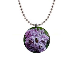 Lilac Bumble Bee Button Necklaces by IIPhotographyAndDesigns