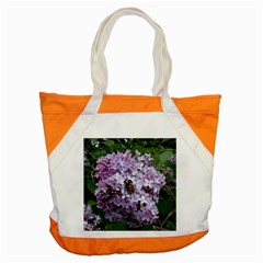 Lilac Bumble Bee Accent Tote Bag