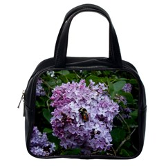 Lilac Bumble Bee Classic Handbags (one Side) by IIPhotographyAndDesigns