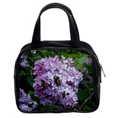 Lilac Bumble Bee Classic Handbags (2 Sides)
