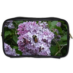 Lilac Bumble Bee Toiletries Bags