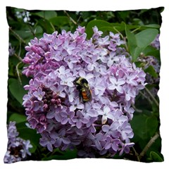 Lilac Bumble Bee Standard Flano Cushion Case (two Sides)