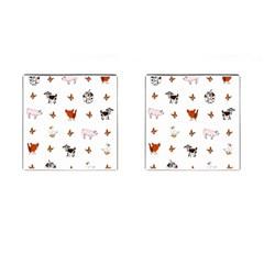 Farm Animals Cufflinks (square)