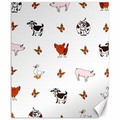 Farm Animals Canvas 8  X 10