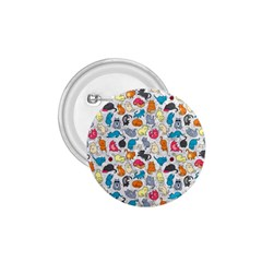 Funny Cute Colorful Cats Pattern 1 75  Buttons