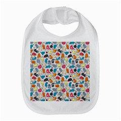 Funny Cute Colorful Cats Pattern Bib