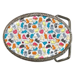 Funny Cute Colorful Cats Pattern Belt Buckles