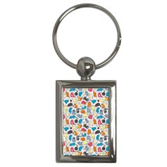 Funny Cute Colorful Cats Pattern Key Chains (rectangle)