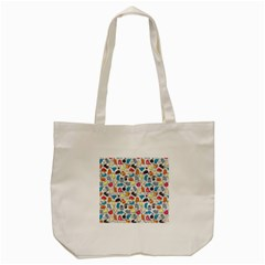 Funny Cute Colorful Cats Pattern Tote Bag (cream)