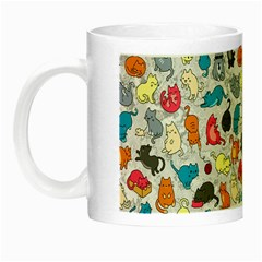 Funny Cute Colorful Cats Pattern Night Luminous Mugs