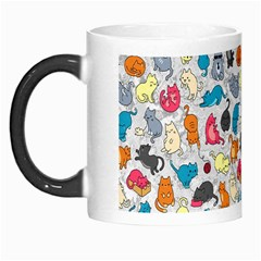 Funny Cute Colorful Cats Pattern Morph Mugs by EDDArt