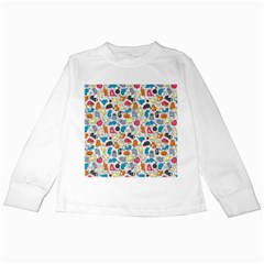 Funny Cute Colorful Cats Pattern Kids Long Sleeve T Shirts