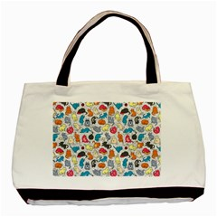 Funny Cute Colorful Cats Pattern Basic Tote Bag