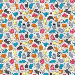 Funny Cute Colorful Cats Pattern Canvas 12  X 12